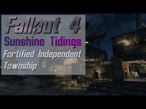 Fallout 4: Sunshine Tidings Co-Op - Fortified Township - Settlement Tour (Lore Friendly)