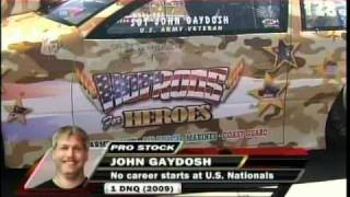 Bob Glidden John Gaydosh Pro Stock Rd4 Qualifying Indy Mac Tools US Nationals 2010.mpg