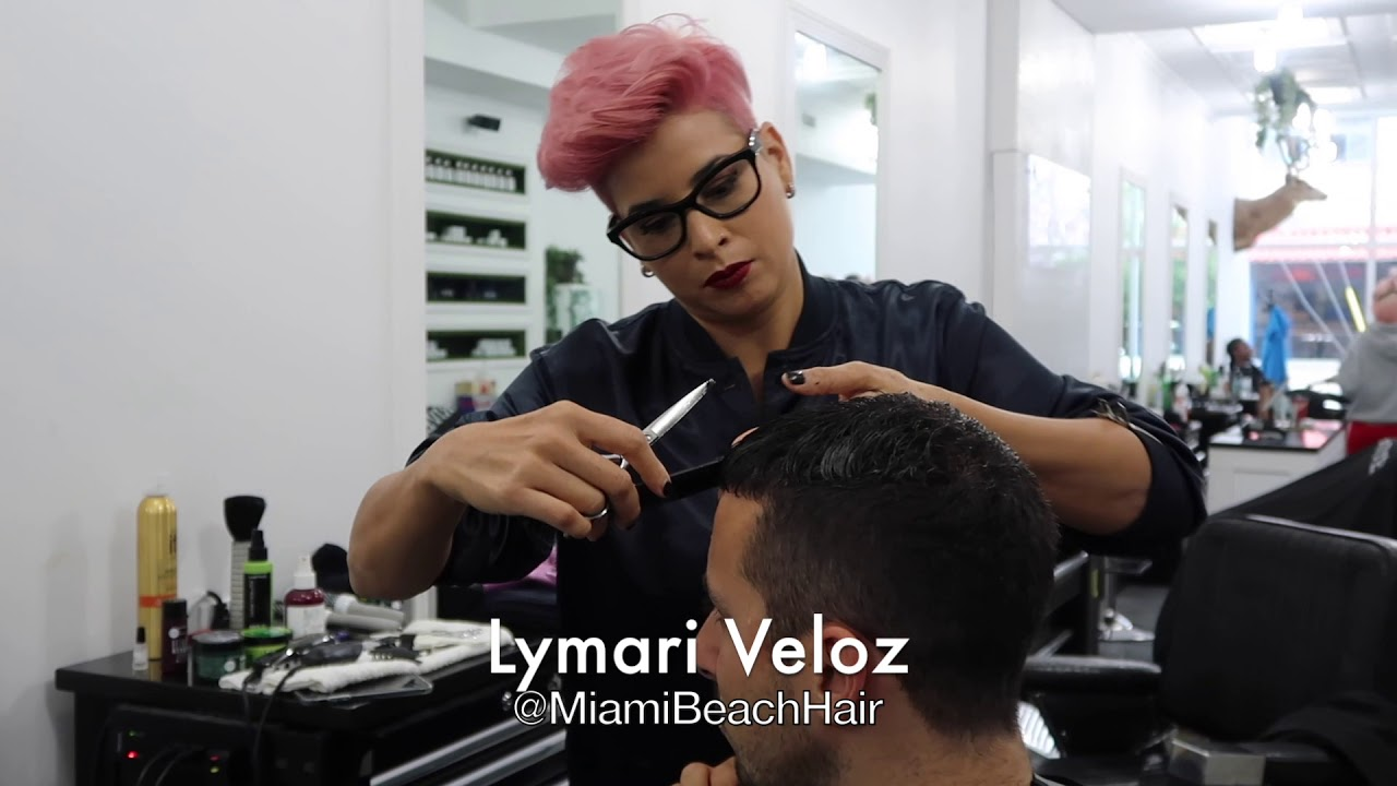 Best Scissor Fade Haircut Miami Beach Youtube