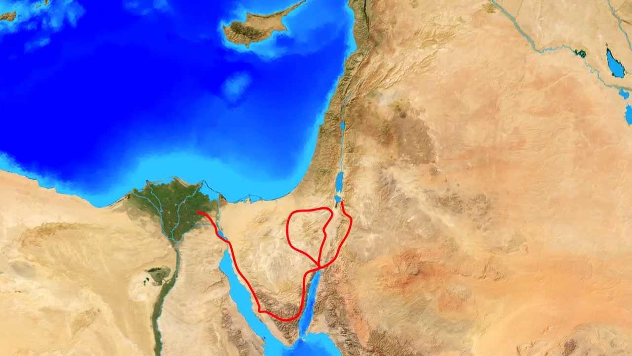 Free Footage Israel exodus animation without geographic
