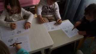 Урок русского языка (младшая группа). Православная Воскресная школа на Северном Кипре.