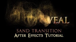 Text-zu-Sand-Übergang - After Effects Tutorial (Keine Plugins)