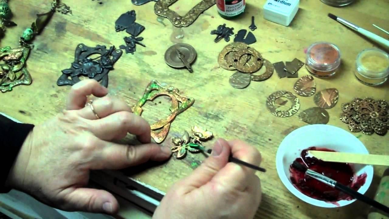 how to create patina on metal