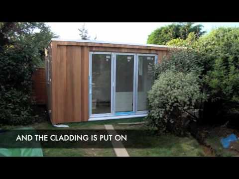 garden office built in a fortnight - youtube