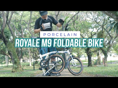 """Mobot Royale GT 9-speed 16"""" Foldable Bicycle Unboxing & Bike Check (Porcelain Edition) thumbnail"""