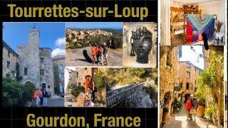 Tour Tourrettes-Sur-Loup, Gourdon and the Waterfalls of Saut du Loup, France - 9/19
