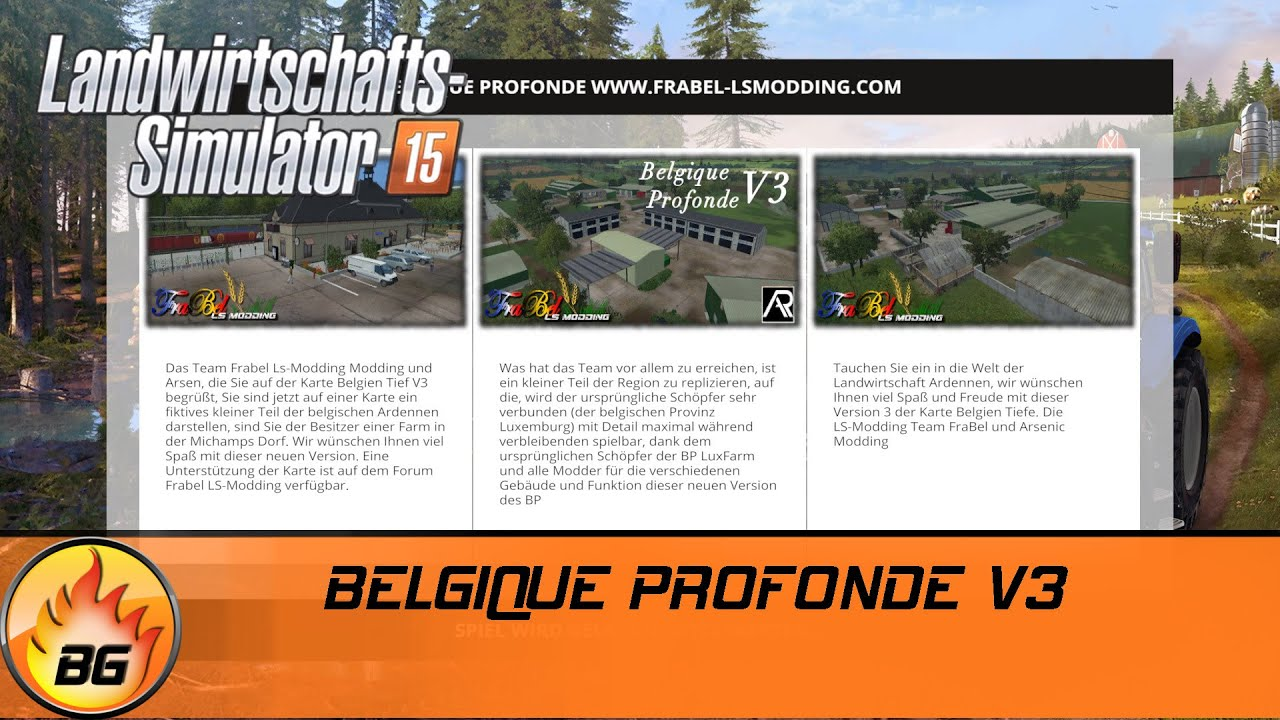 ls 15 mapvorstellung belgique profonde v3 hd youtube. Black Bedroom Furniture Sets. Home Design Ideas