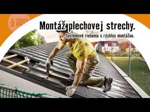 Montáž plechovej strechy