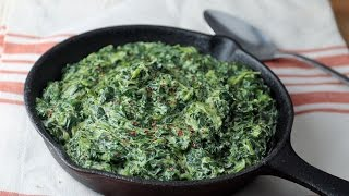 Keto Recipe - Easy Creamed Spinach