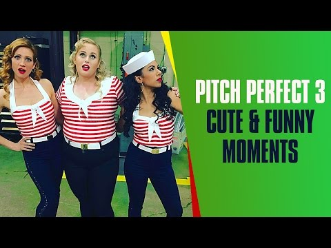 Anna Camp Singing Belle Little Town  Pitch Perfect 3 Cast Cute & Funny Moments On The Set