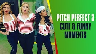 Anna Camp Singing Belle Little Town | Pitch Perfect 3 Cast Cute & Funny Moments On The Set