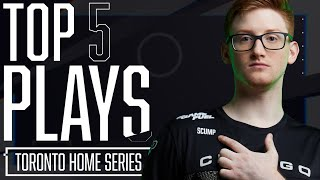Scump Stops the Round 11 Defuse As T2P Go HUGE With All 5 Kills! | Top 5 Plays Presented by PS4