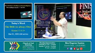 Church of God World Missions - The Debt that we always Owe - Mar 01 2020