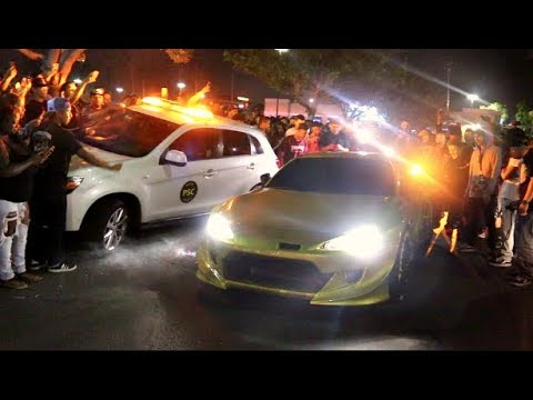 POLICE ABSOLUTELY DESTROYED AT CAR MEET They Failed