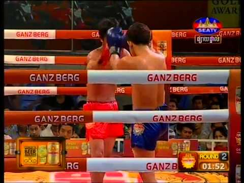 Khmer Boxing Keum Sovan Deun Vs Mat Chhveng at SEATV 22 Feb 2015