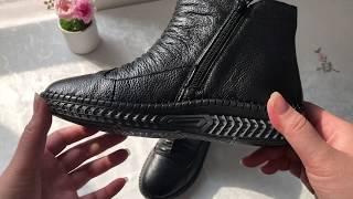 엄마겨울 천연가죽 쿠션앵클부츠 40대50대60대신발 특…