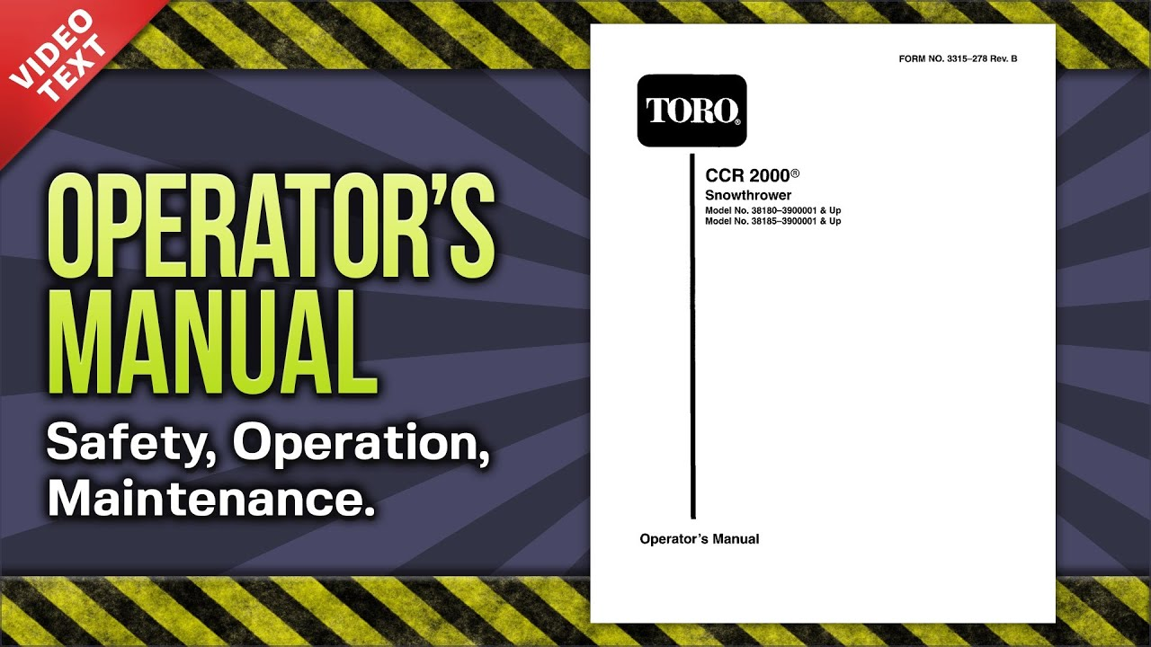 Toro | parts – ccr 2000 snowthrower.