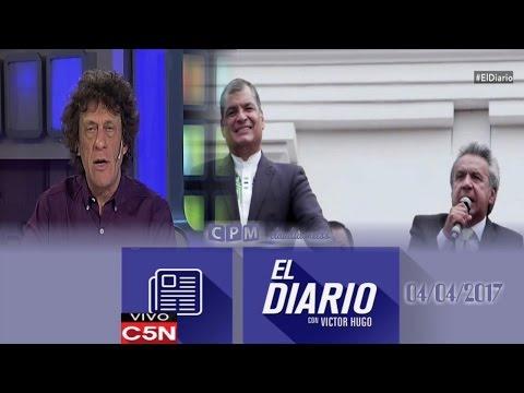 El Diario C5N- Pedro Brieger : Elecciones en Ecuador ( 04 / 04 /2017)