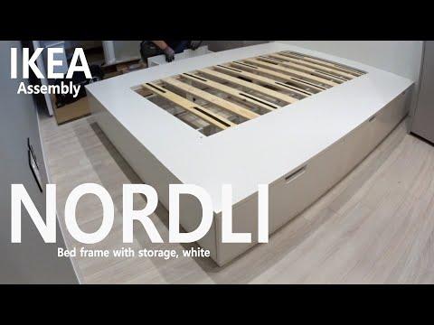 how-to-assemble---ikea-nordli-노르들리-수납침대프레임,-화이트-조립---5배속영상
