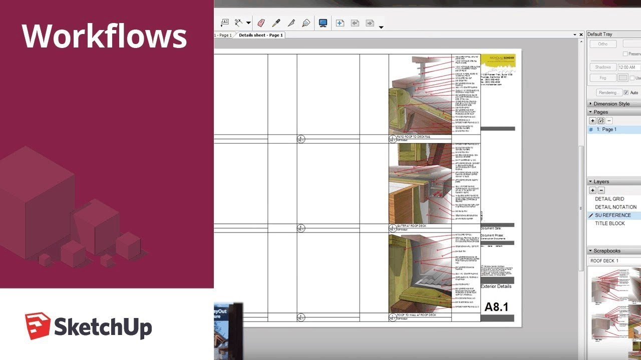 Sketchup For Construction Documentation Details In Layout Youtube