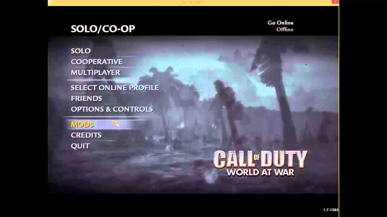 call of duty world at war download mega