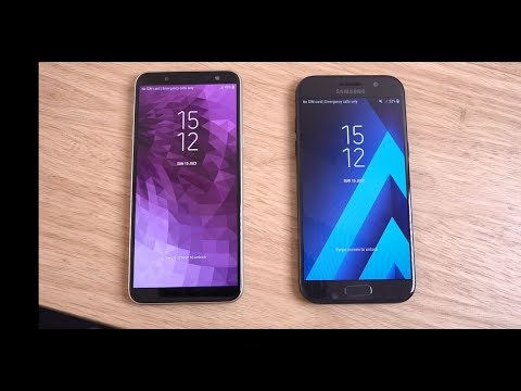 samsung galaxy j6 vs galaxy a5 2017 speed test youtube. Black Bedroom Furniture Sets. Home Design Ideas