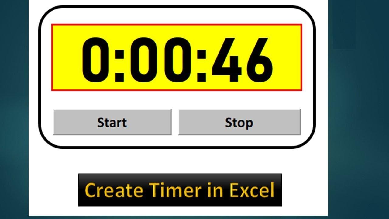 How to Create Timer in Excel VBA - Excel VBA Tutorial