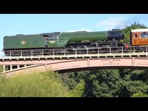 Flying Scotsman Train on the Severn Valley Railway and Victoria Bridge