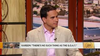 The Jump reacts to Kareem Abdul-Jabbar saying there is no such thing as G.O.A.T. | The Jump | ESPN