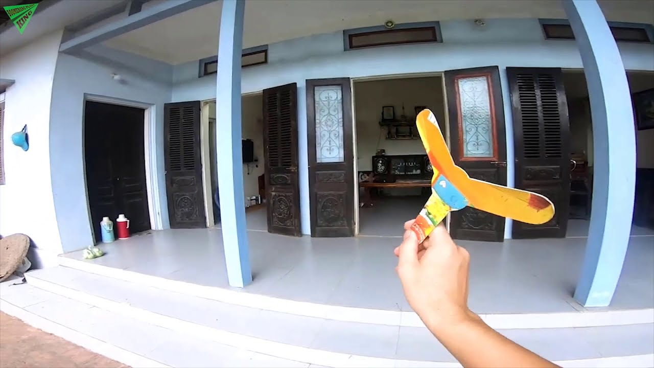 Boomerang synthesis   Diy paper boomerang easy   origami boomerang