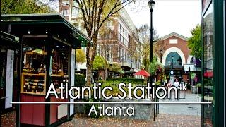 Walking in Atlantic Station, Atlanta Georgia | 4k | Ambient Lofi Chill  Music