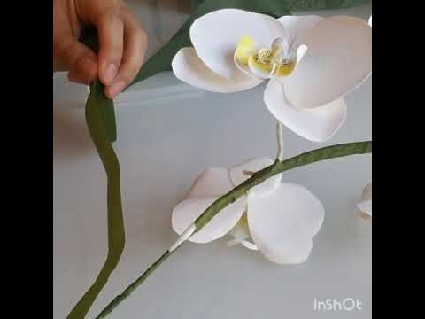 How to make cardstock paper orchid (part 2)