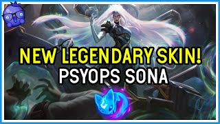 LEGENDARY PSYOPS SONA SKIN! (and a lesson on handling being camped) - League of Legends