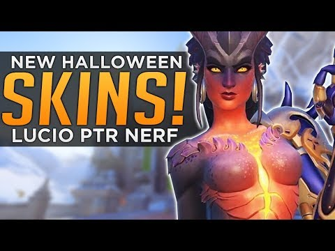 Overwatch: NEW Halloween Skins! - Lucio NERF Explained