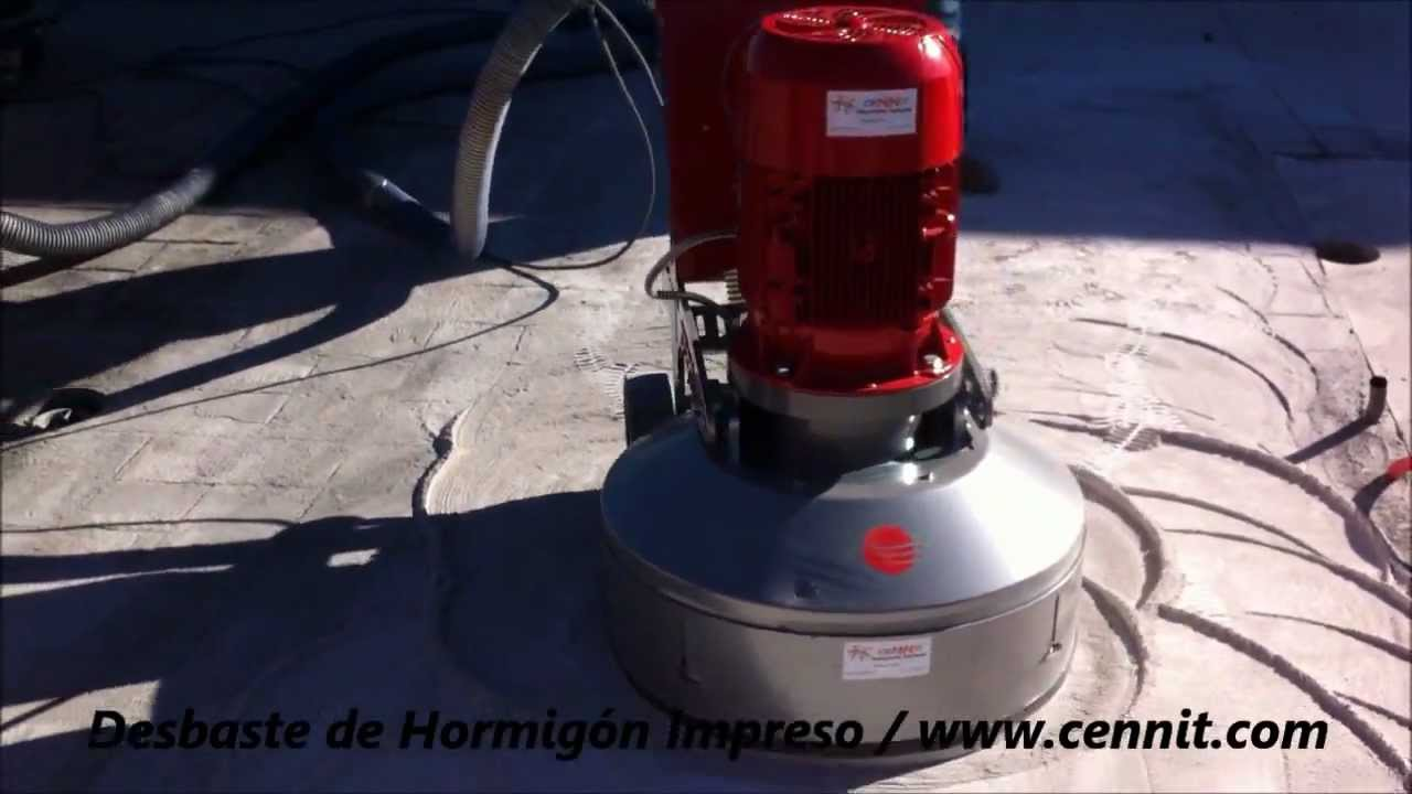 Pulidora de diamante cennit md cgd 735 pro desbaste de for Hormigon impreso youtube