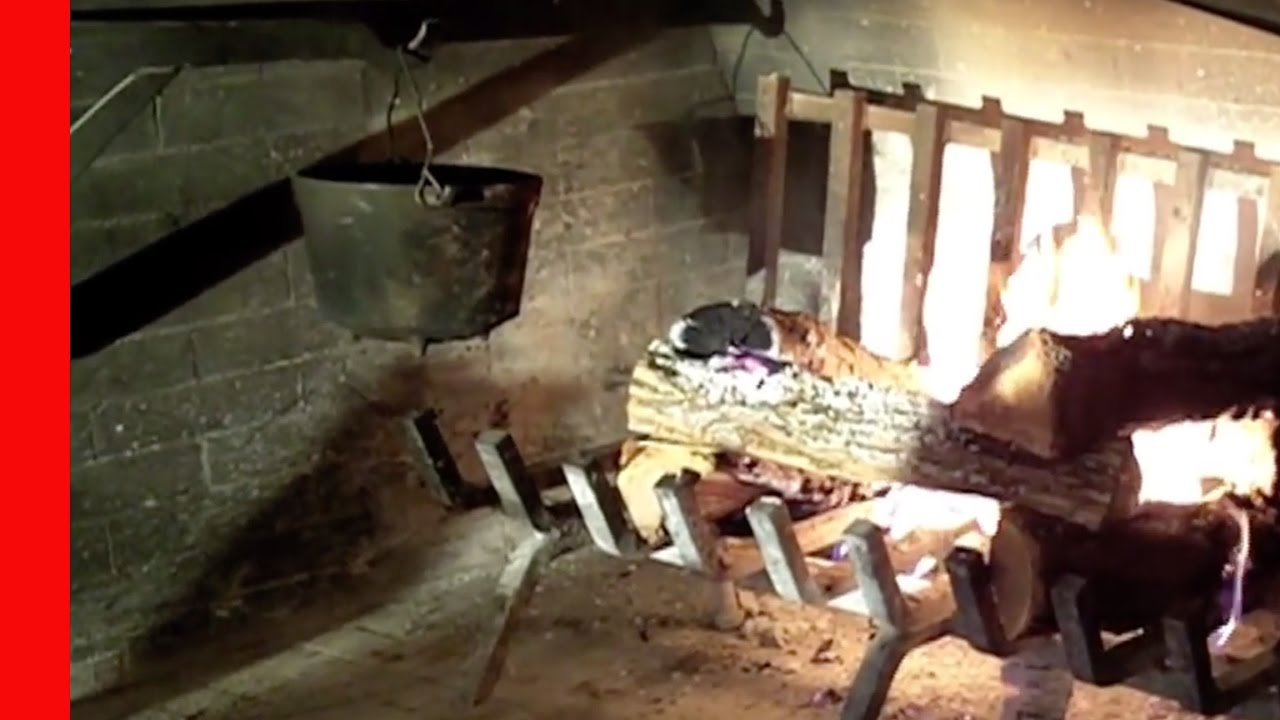 Cracker Barrel Fireplace - YouTube