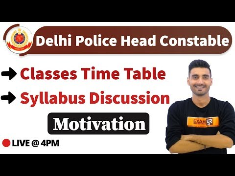 Delhi Police Head Constable || Classes Time Table || Syllabus Discussion || By Vivek Sir