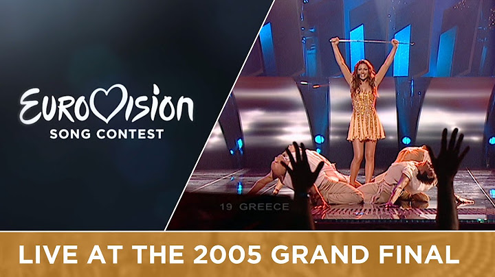 helena paparizou  my number one greece live  eurovision song contest 2005