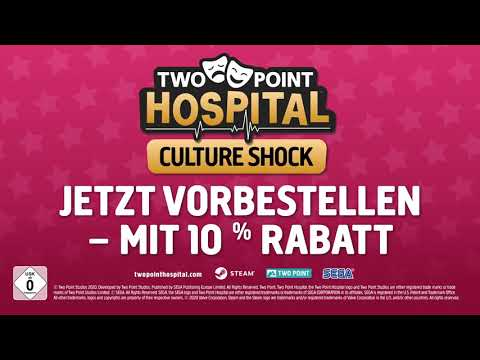 Two Point Hospital: Culture Shock | Announce Trailer (USK)