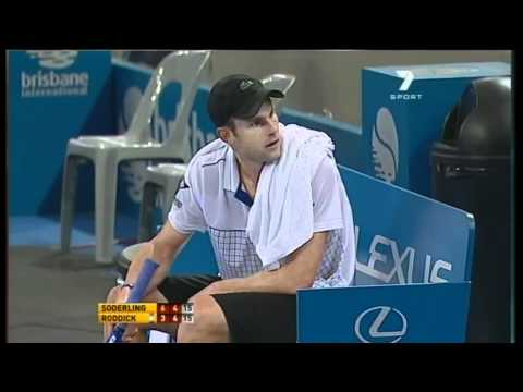 Robin Soderling v Andy Roddick - Men's singles final: Brisbane International 2011