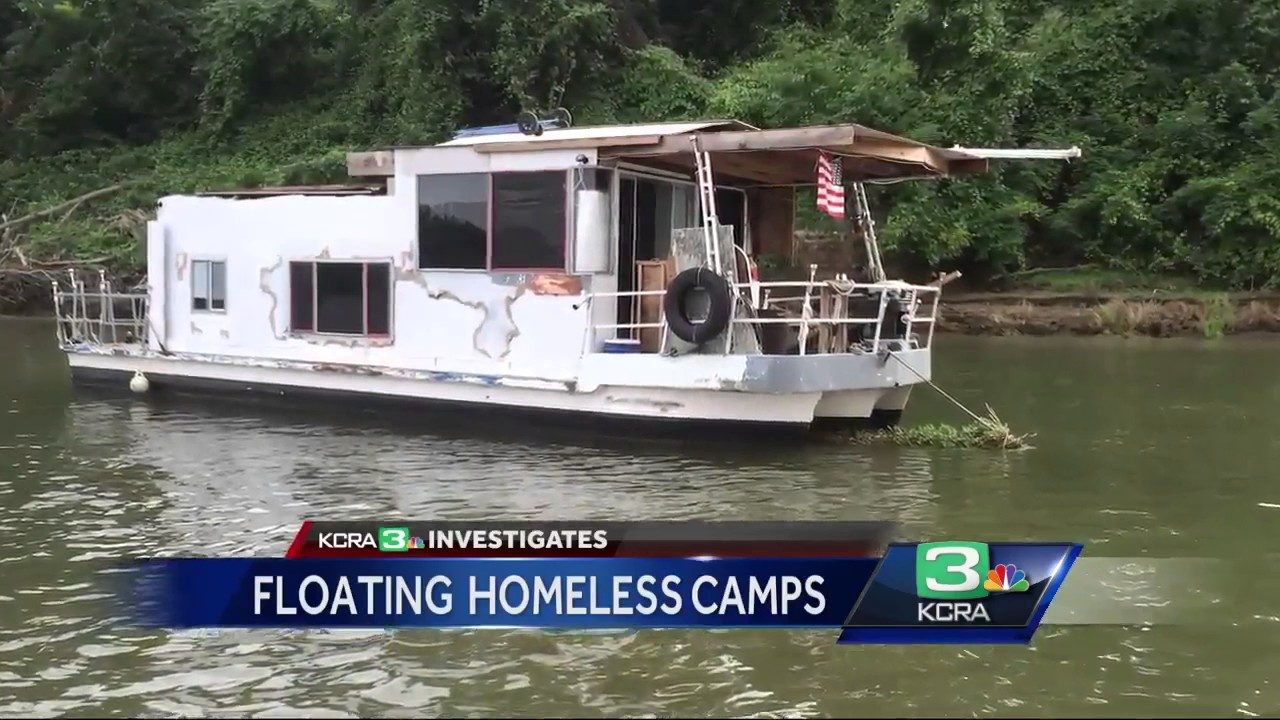 Homeless Population Looks To Floating Camps On Sacramento River