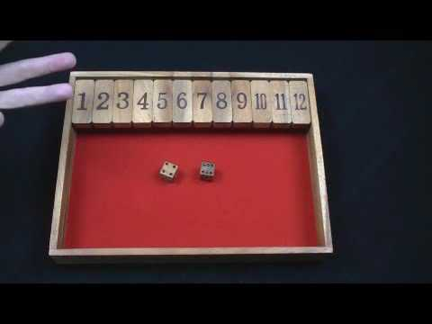 Shut the Box wood game #1-12 version from CreativeCrafthouse.com