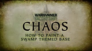 How To Paint: Swamp Themed Base