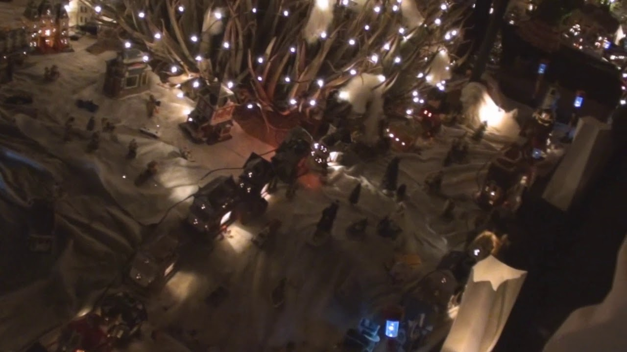 Large Outdoor Christmas Village Display Roximately 1 000 Houses Plus Figurines
