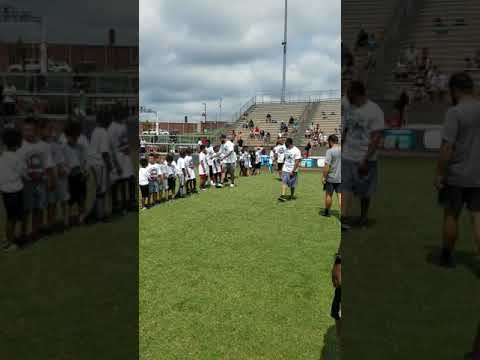 Derek Barnett's football camp 2018