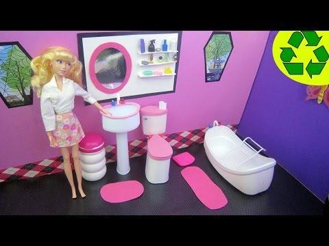 """Manualidades para muñecas: Cómo hacer un lavabo """"de verdad """" para tu muñeca - manualidadesconninos"""