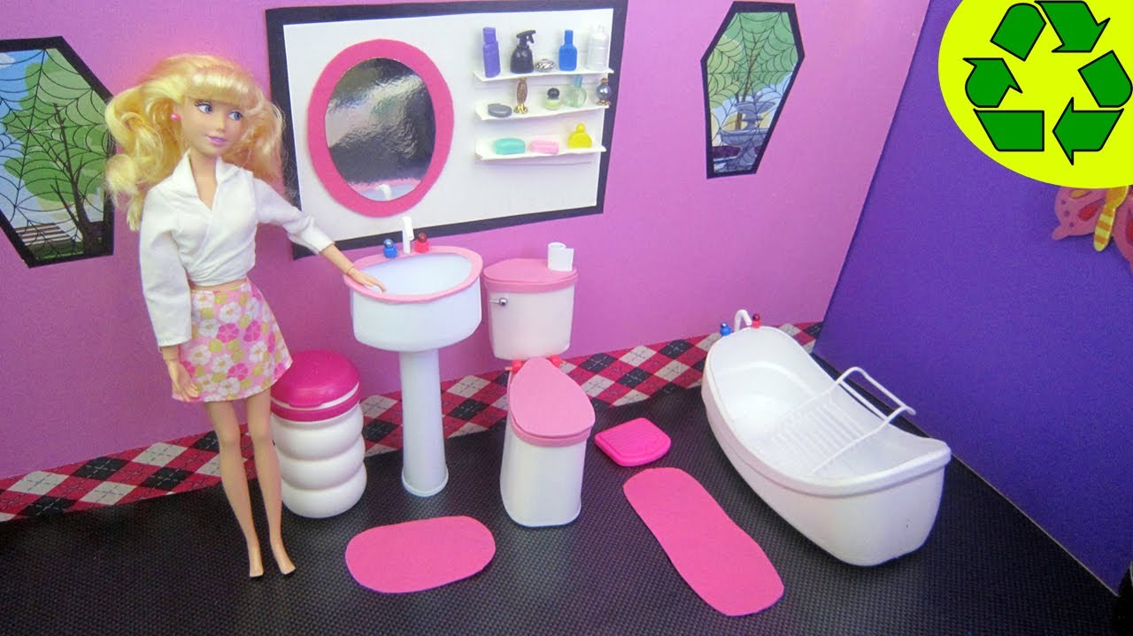 Tinas De Baño Recicladas:DIY Doll Bathroom