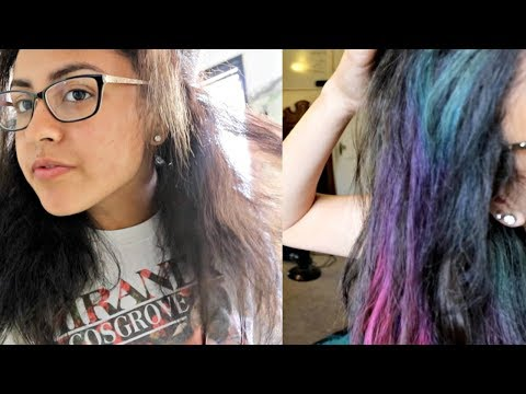 Hair Transformation #1: Black To Colored Streaks