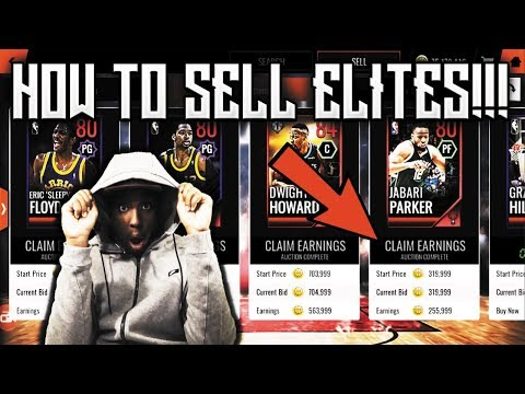 HOW TO SELL YOUR ELITE PLAYERS IN NBA LIVE MOBILE 18 AFTER THE NEW AUCTION HOUSE UPDATE!!!