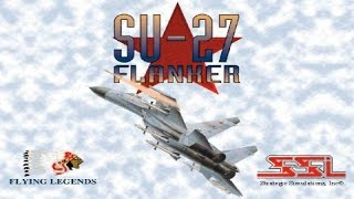 SU-27 Flanker gameplay (PC Game, 1995)